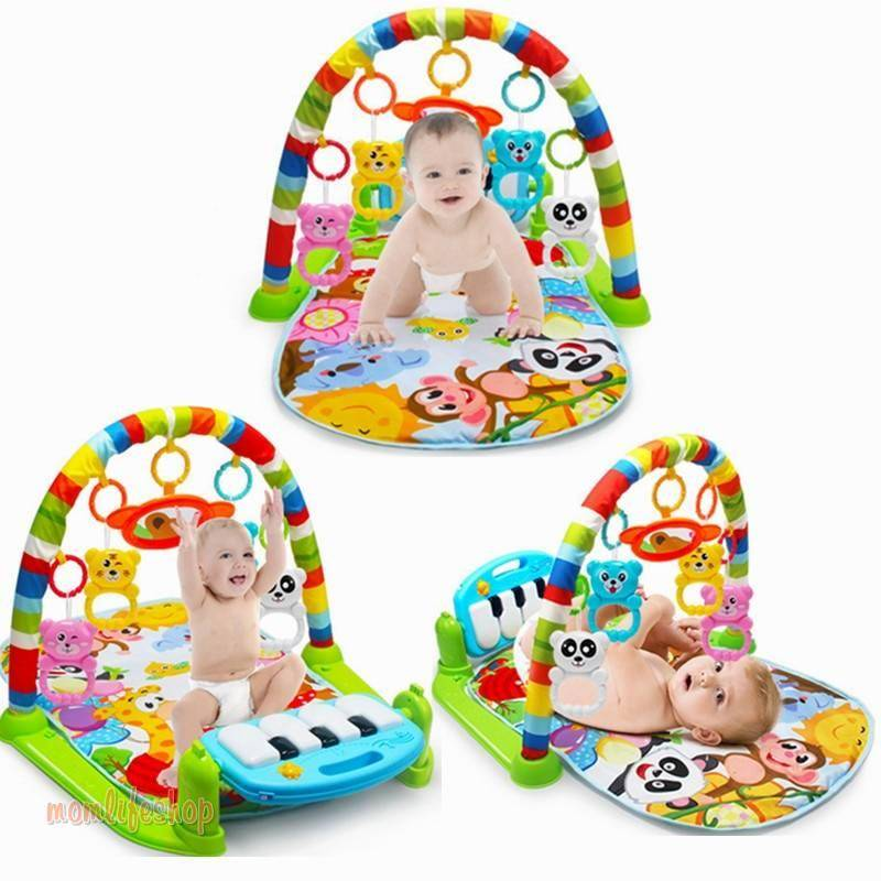Baby Play Music Mat Carpet Toys Kid Crawling Play mat Game Develop Mat with Piano Keyboard Infant Rug Early Education Rack Toy Toys, Kids and Baby color: Blue Green Multicolor Orange Pink