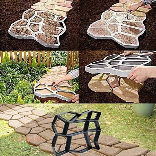 DIY Path Maker Mold Home, Garden and Tools New and Interesting Finds color: Black