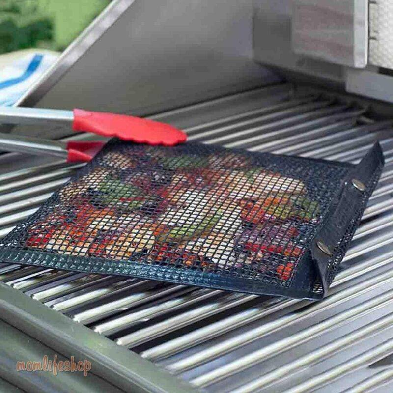 Non-Stick Mesh Grill Bag Home, Garden and Tools Kitchen and Household New and Interesting Finds a1fa27779242b4902f7ae3: 2PCS (Large & Small) 3PCS Large (8.6 x 10.6 in) 3PCS Small (5.5 x 8.6 in) Single Large (8.6 x 10.6 in) Single Small (5.5 x 8.6 in)