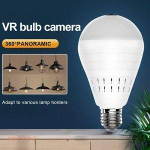 Videcam Wifi Panorama Camera Security Lamp Panoramic Bulb CCTV Video Wireless Ip Camera Surveillance Fisheye HD Camera Tech and Electronics color: Upgraded version|with 32G card|with 64G card