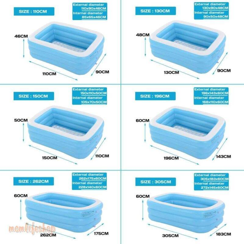 1.1m/1.3m/ 1.5m/1.96m/2.62m/3.05m Inflatable Swimming Pool Adults Kids Pool Bathing Tub Outdoor Indoor Swimming Pool Home, Garden and Tools color: 1.1m|1.1m|1.1m|1.3m|1.3m|1.3m|1.5m|1.5m|1.5m|1.8m|1.8m|1.96m|2.1m|2.1m|2.62m|3.05m