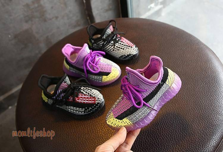 2020 New Autumn Kids Shoes Unisex Toddler Girls Boys Sneakers Mesh Breathable Fashion Casual Children Shoes Size 21-30
