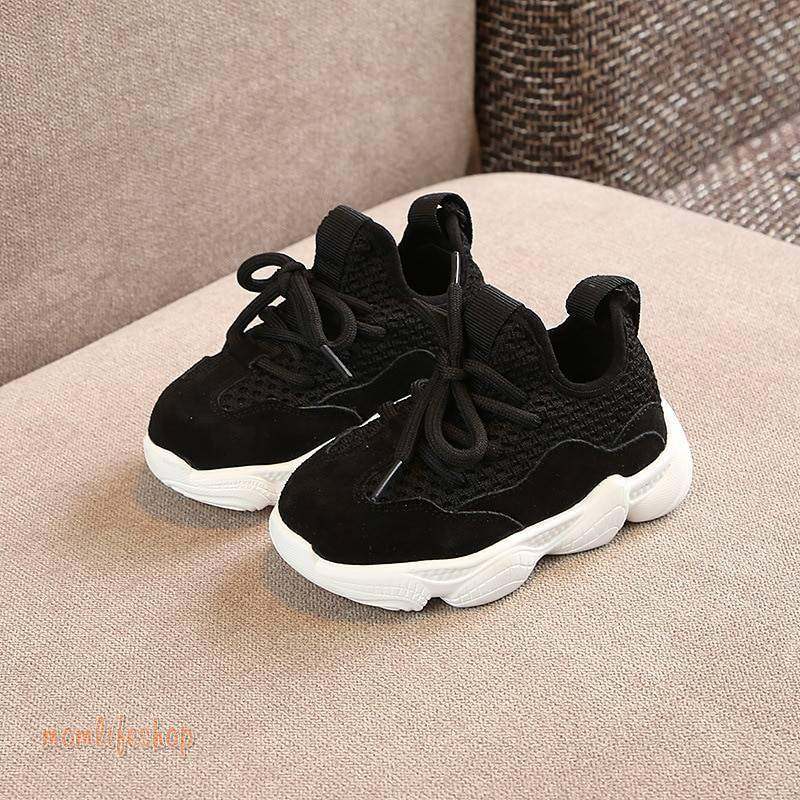 2020 New Spring/Autumn Children Shoes Unisex Toddler Boys Girls Sneakers Mesh Breathable Fashion Casual Kids Shoes Size 21-30