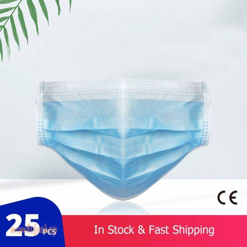 25 pcs/Bag FDA CE Certification Disposable Medical Mask Thickened 3 Layer Non-woven Protective Surgical Mask Fast Delivery Beauty and Wellness Series: Dustproof Series