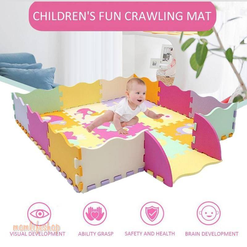 25Pcs Kids Toys EVA Children's mat Foam Carpets Soft Floor Mat Puzzle Baby Play Mat Floor Developing Crawling Rugs With Fence Toys, Kids and Baby color: WJ3251C|WJ3738A|WJ3738B|WJ3738C|WJ3738D|WJ3738E|WJ3738F|WJ3738G|WJ3738H|WJ3738I|WJ3738J|WJ3738K|WJ3738L|WJ3738M|WJ3738N|WJ3738O|WJ3738P|WJ3738Q|WJ3738R|WJ3738S|WJ3738T|WJ3738U|WJ3738V|WJ3738W|WJ3738X|WJ3738Y|WJ3738Z