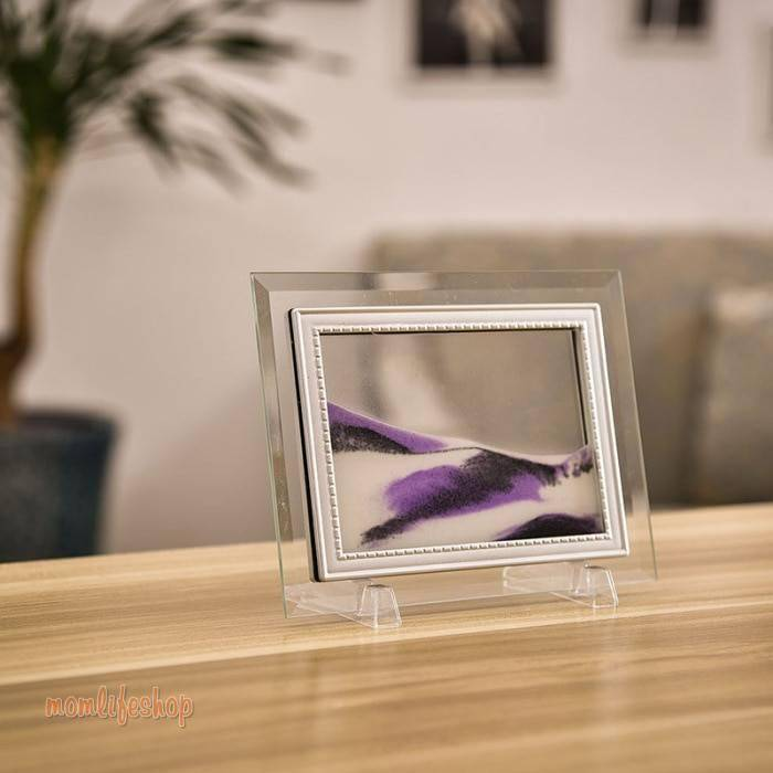 3D Dynamic Flowing Grit Sand Painting Transparent Glass Frame Drawing Landscape For Home Decor Gifts Office FP8