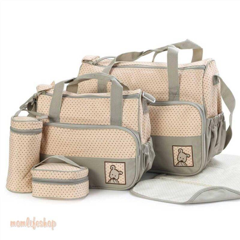 5 pcs/set Baby Care Diaper Bag Mummy Stroller Handbag Set Maternity Nursery Organizer Hobos Nappy Changing Mat Bottle Holder Toys, Kids and Baby color: PJ3604C|PJ3604D|PJ3604F|PJ3604G|PJ3604P|PJ3604QB|PJ3604R|PJ3604SB