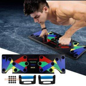 9 in 1 Push Up Rack Training Board ABS abdominal Muscle Trainer Sports Home Fitness Equipment for body Building Workout Exercise Beauty and Wellness color: type 1|type 2|Type blue|Type orange|Type2