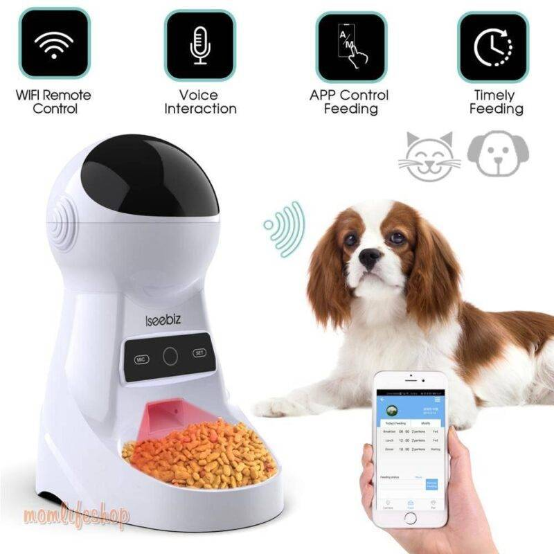 Automatic Pet Feeder with Voice Recording Pet Supplies a1fa27779242b4902f7ae3: LCD Screen|WiFi|WiFi and Camera