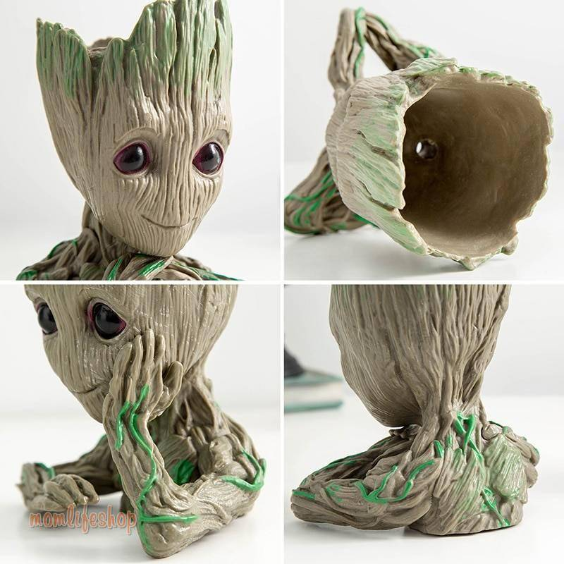 Baby Groot Flowerpot plant pot stand pots for flowers Groot pan holder Home Decoration Home, Garden and Tools color: 1 2 3 4