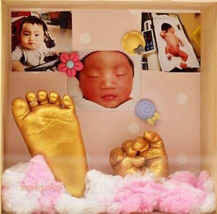 Baby Hand and Foot Memorial Mold Set Toys, Kids and Baby color: dark pink|Gold|peal white|Silver