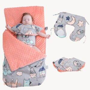 Baby Sleeping Bag Cartoon Animals Print Toys, Kids and Baby ae284f900f9d6e21ba6914: Orange|Pink|Red