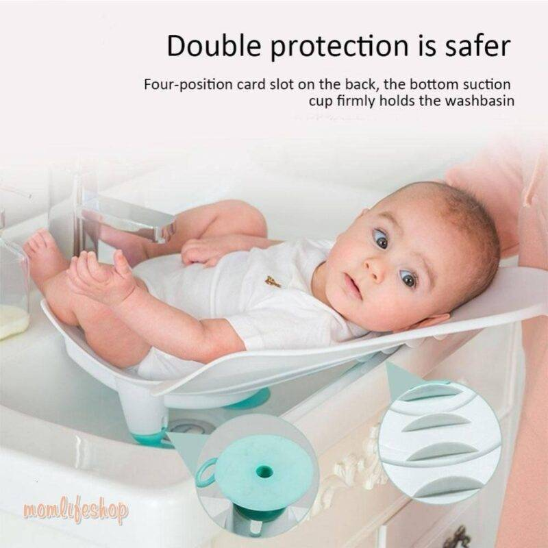 Best Portable Infant Baby Washing Ass Artifact Baby Washing Fart Basin Newborn Washing PP Tub Supplies Baby Bathtub Baby Care Toys, Kids and Baby color: Elegant powder|Fresh blue