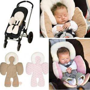 Comfortable Angel Shaped Cotton Baby Car Seat Cushion Toys, Kids and Baby color: Black|Gray|Khaki|Pink