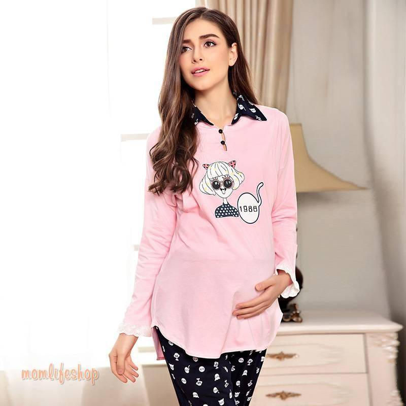 Cute Pregnant Women's Long Sleeve Pajamas Toys, Kids and Baby a1fa27779242b4902f7ae3: 1|2|3