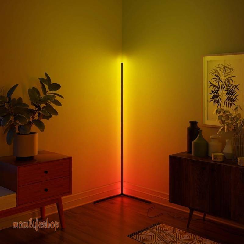 Dimming Black White Floor Lamp Modern RGB Remote LED Floor Lamps Standing Lamp simple corner standing Lamp corner light dropship