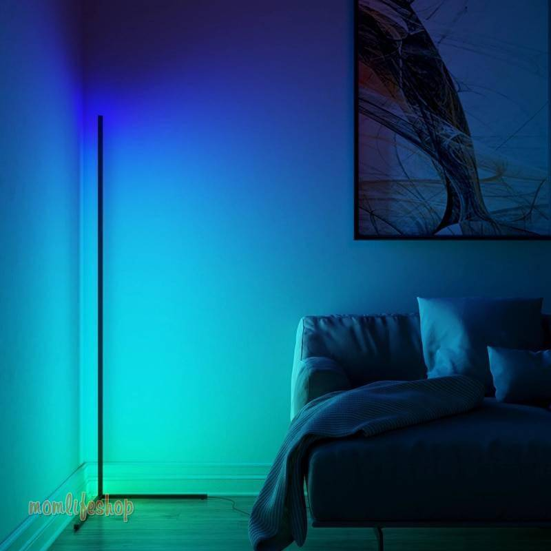 Dimming Black White Floor Lamp Modern RGB Remote LED Floor Lamps Standing Lamp simple corner standing Lamp corner light dropship Tech and Electronics 8ecdde6db90a376d7ab2a4: Black body|White body