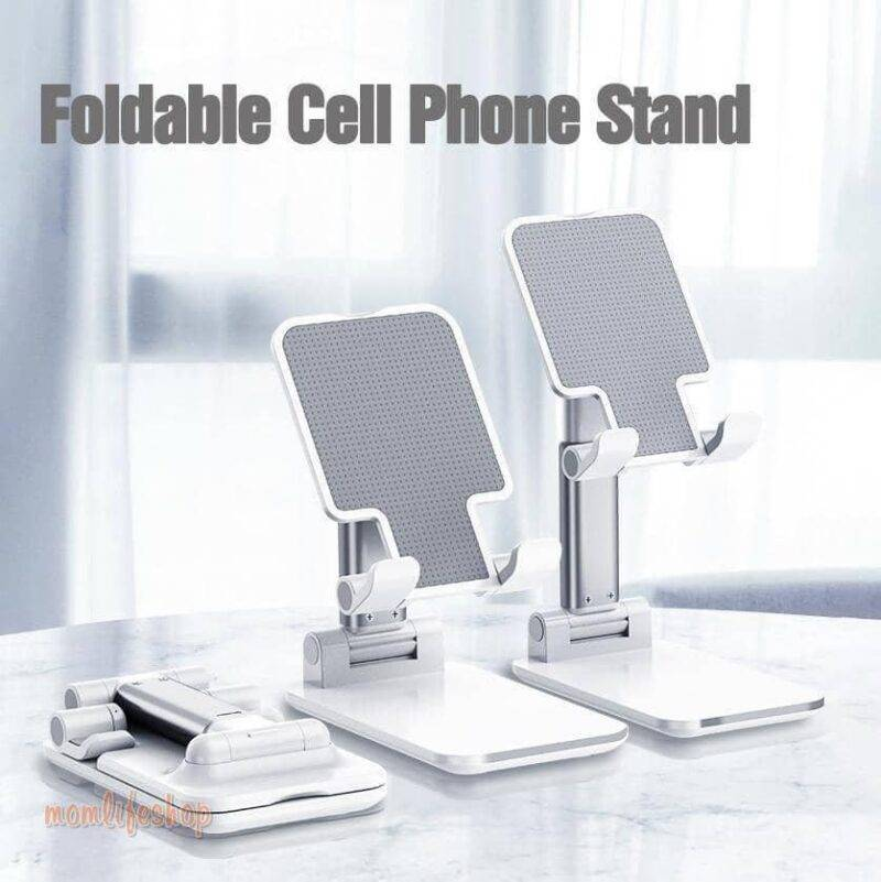 Ergonomically-Adjustable Phone/Tablet Stand Tech and Electronics color: Classic black|Ivory white