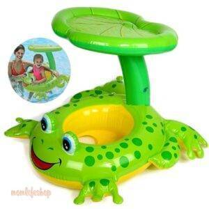 Frog Style Swimming Ring with Sun Visor Toys, Kids and Baby a1fa27779242b4902f7ae3: Air Pump|Swimm Ring