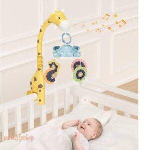 Giraffe Crib Mobile Toys, Kids and Baby color: White|Yellow
