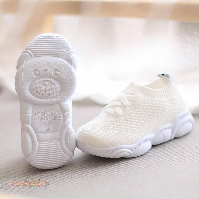 Kids Shoes Antislip Soft Bottom Baby Sneaker Casual Flat Sneakers Shoes Children size Girls Boys Sports Shoes Toys, Kids and Baby color: Black Gray Pink White
