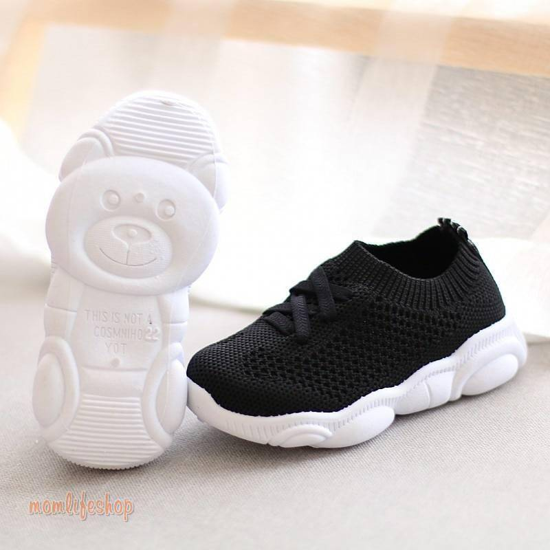 Kids Shoes Antislip Soft Bottom Baby Sneaker Casual Flat Sneakers Shoes Children size Girls Boys Sports Shoes Toys, Kids and Baby color: Black|Gray|Pink|White
