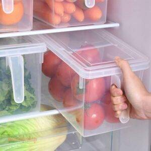 Kitchen Transparent PP Storage Box Grains Beans Storage Contain Sealed Home Organizer Food Container Refrigerator Storage Boxes Kitchen and Household color: Clear