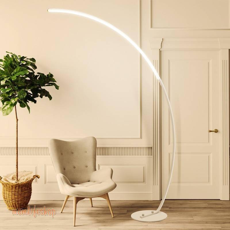 Led modern simple floor lamp standing lamp art decoration nordic style for living room bedroom study room light Tech and Electronics 8ecdde6db90a376d7ab2a4: Black|White