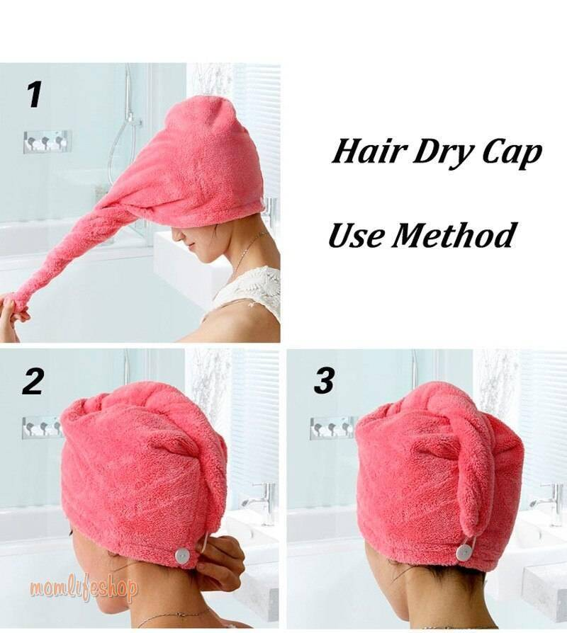 Magic Quick Hair Dry Towel Women Bathroom Super Absorbent Thicker Microfiber Bath Towel Hair Dry Cap Salon Towel