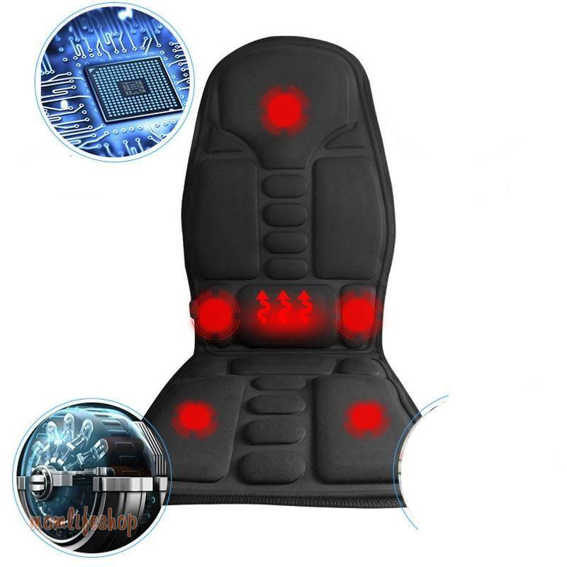 Massage seat chair Neck vibrator heat Chair electric Massage Chairs Seat Back Neck massagem Cushion Heat Pad For leg Waist Body