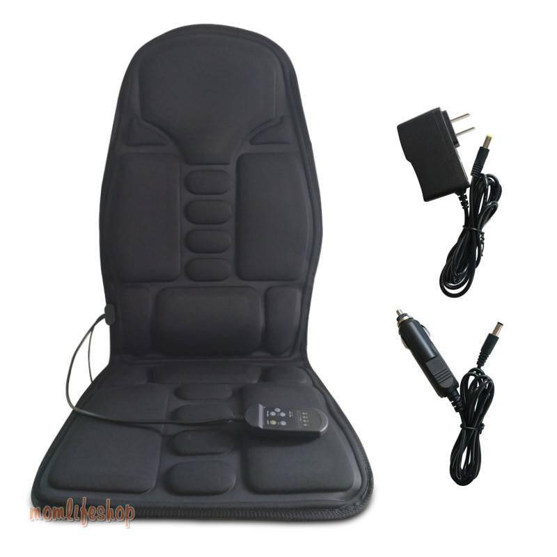 Massage seat chair Neck vibrator heat Chair electric Massage Chairs Seat Back Neck massagem Cushion Heat Pad For leg Waist Body Beauty and Wellness color: 12V1A adapter|Massage Chairs Seat