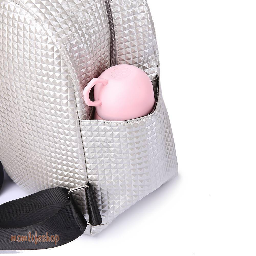 Metallic Style Maternity Bag color: Black|Pink|Silver