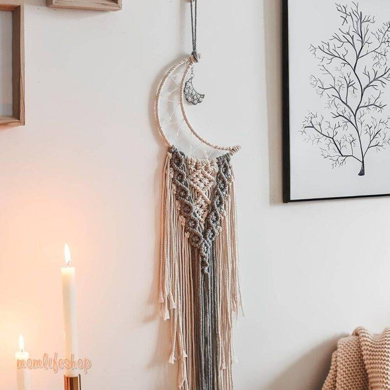 Moon Dreamcatcher Wall Decor New and Interesting Finds color: Moon-1|Moon-2
