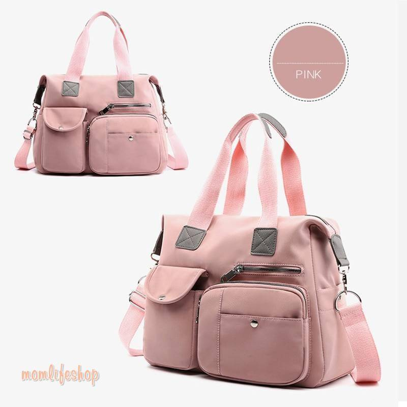 Nylon Mummy Maternity Baby Nappy Stroller Bag Large Capacity Diaper Travel Backpack Nursing Bag Baby Care Women's Fashion Bag Toys, Kids and Baby color: Black|Blue|Gray|Orange|Pink|Red