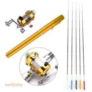 Pocket Fishing Rod New and Interesting Finds color: Black|Blue|Purple|Red|White|Yellow