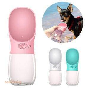 Portable Pet Dog Water Bottle For Small Large Dogs Travel Puppy Cat Drinking Bowl Outdoor Pet Water Dispenser Feeder Pet Product Pet Supplies color: Blue|Bulldog Black|Bulldog White|Pink|Turquoise|White
