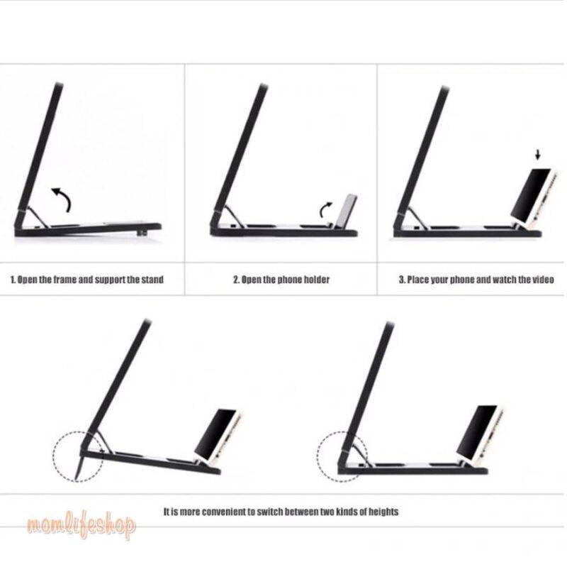 Portable Universal Screen Amplifier New and Interesting Finds color: Black|White