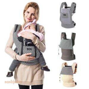 Printed Cotton Baby Carrier Toys, Kids and Baby color: Beige|Black|Brown|Gray