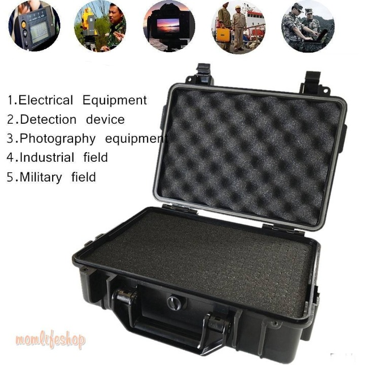 Shockproof Camera Safety Box ABS Sealed Waterproof Hard Boxes Equipment Case with Foam Vehicle Toolbox Impact Resistant Suitcase Tech and Electronics color: SCO41-Black|SCO42-Black|SCO51-Black|SCO56-Black