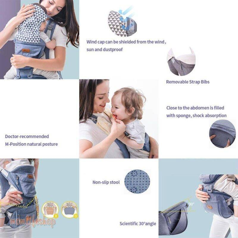Small Plain Baby Sling color: general black|general blue|general gray|general green|general pink|mesh blue|mesh gray|mesh green|mesh pink|with box