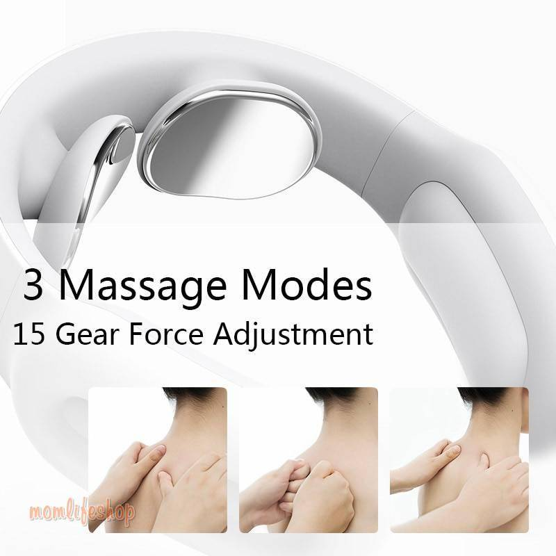 Smart Electric Neck and Shoulder Massager Pain Relief Tool Health Care Relaxation Cervical Vertebra Physiotherapy