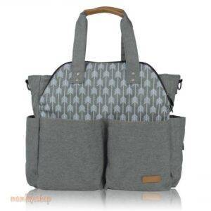 Stylish Maternity Bag with Nordic Style Print color: Grey