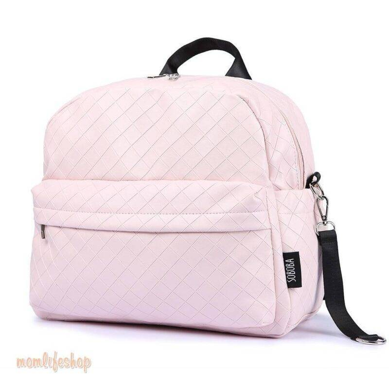 Zippered Large Plain Diaper Bag color: Black|Pink