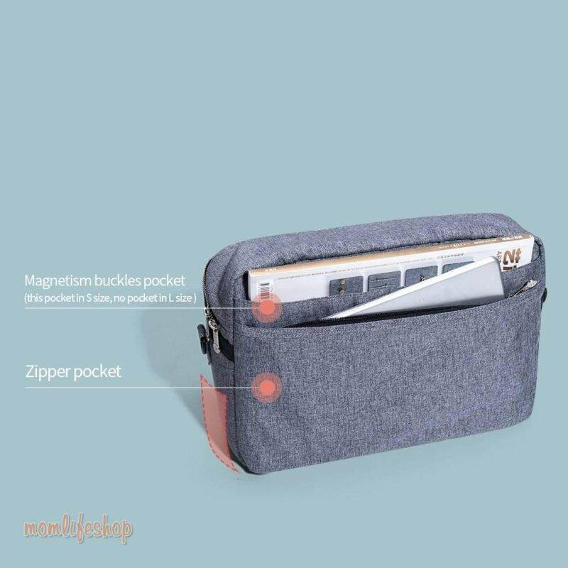 Zippered Square Diaper Bag Toys, Kids and Baby color: Blue Gray Green