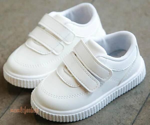 kids sneakers boys shoes girls trainers Children leather shoes white black school shoes pink casual shoe flexible sole fashion Toys, Kids and Baby color: Black|Pink|White