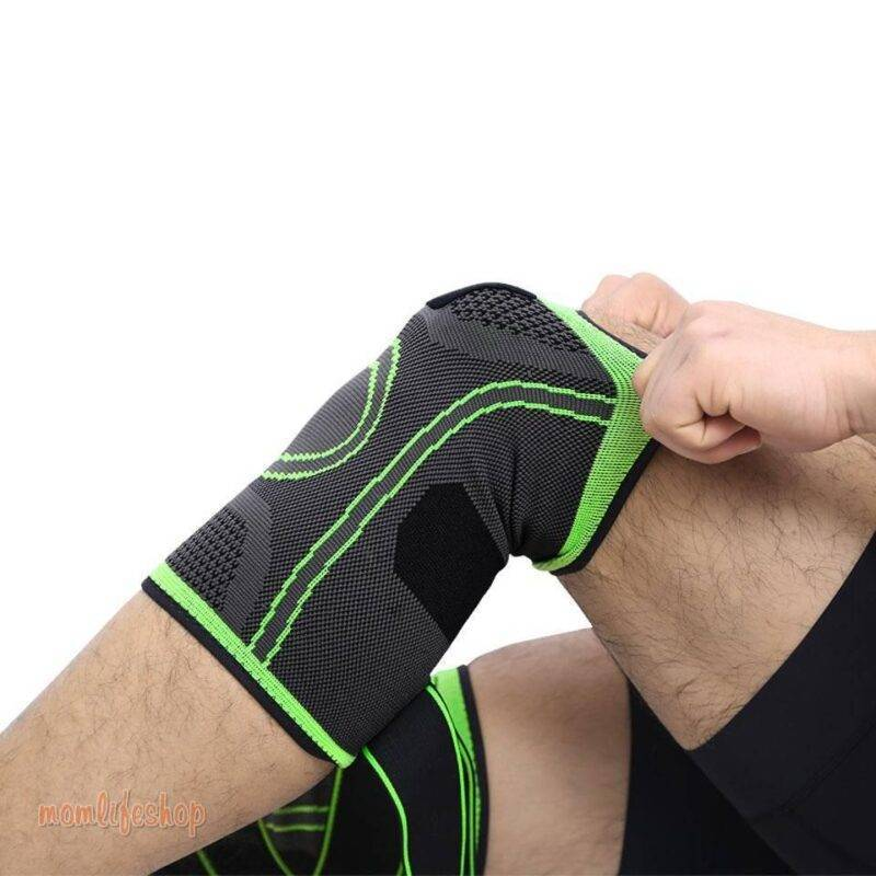 Bandage Knee Support Beauty and Wellness color: Black Black with grey Blue Green Orange Pink Red