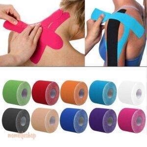 Sports Recovery Tapes for Muscles Beauty and Wellness color: Black|Blue|Blue camouflage|Green|Green camouflage|Orange|Pink|Pink camouflage|Purple|Red|Skin|Sky Blue|White|Yellow