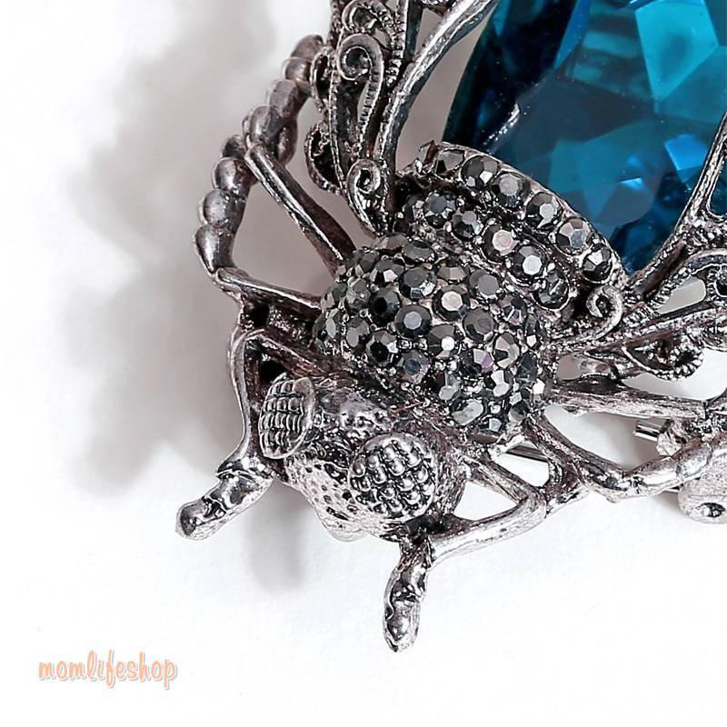 Crystal Insect Brooch New and Interesting Finds color: Blue|Purple|Red