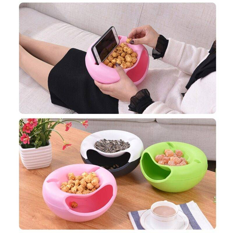 Lazy Snack Bowl New and Interesting Finds color: Blue|Green|Pink|Red