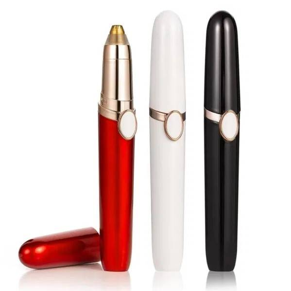 Mini Electric Eyebrow Trimmer Pen Beauty and Wellness color: Black|Red|White